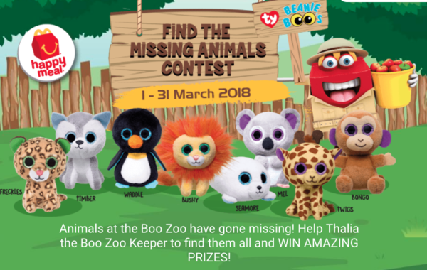 McDonald's Find the missing animals contest