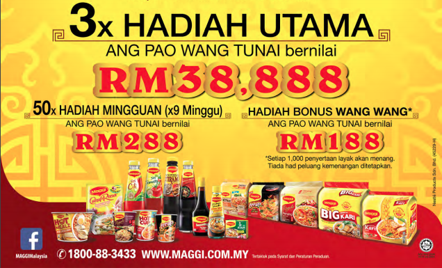 Nestle Maggi RM38,888 Ang Pau can be yours!
