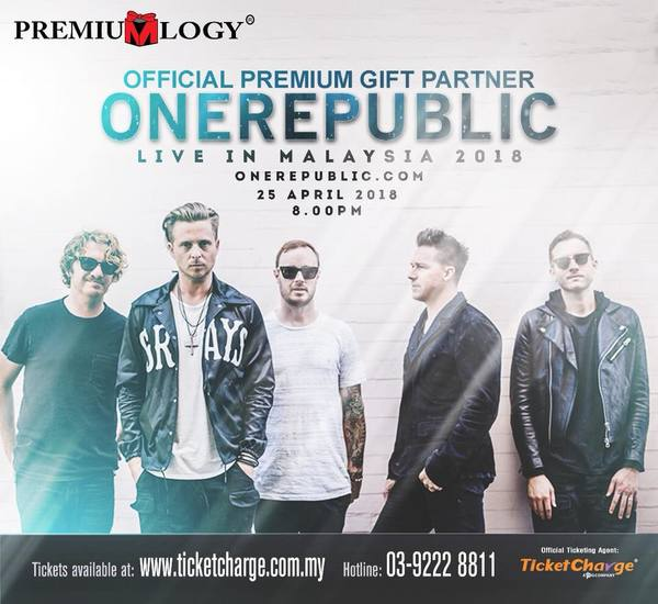 Premiumlogy OneRepublic live in Malaysia Contest
