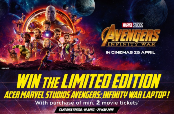 Win the Acer Marvel Avenger Limited Edition Laptops!