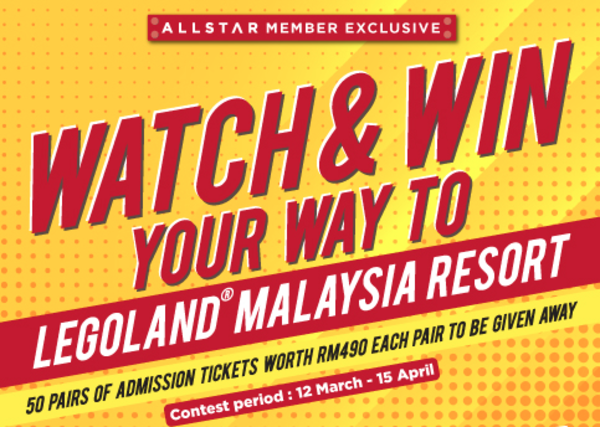 Watch & Win Your Way to Legoland Malaysia Resort
