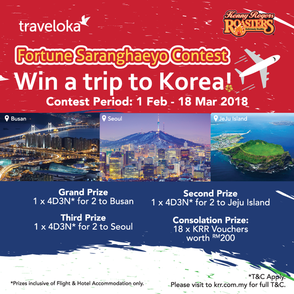 Kenny Rogers Roaster Traveloka Fortune Saranghaeyo Contest