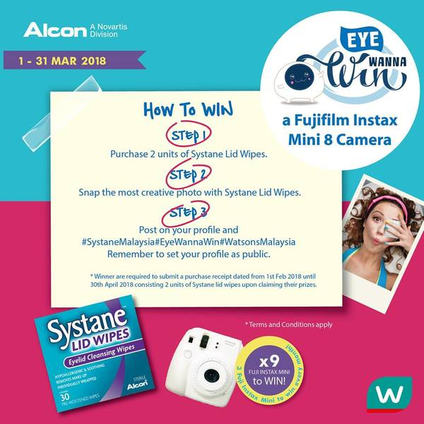 Alcon Systane Lid Wipes post and win contest