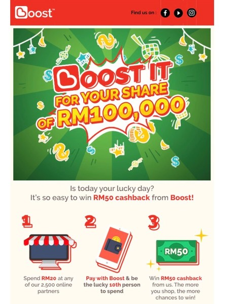 Boost It For Your Share of RM100,000