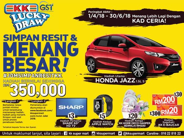 KK Super Mart KEEP RECEIPT & WIN BIG!