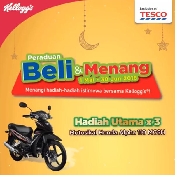 Kellogg's Malaysia - Peraduan Beli & Menang di Tesco