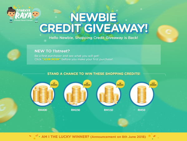Syioknya Raya Newbie Shopping Credit Giveaway