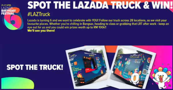 Spot the Lazada Truck & Win!