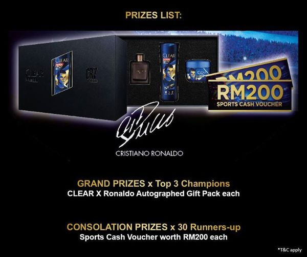 CLEAR X RONALDO BUY, SCAN & WIN CONTEST
