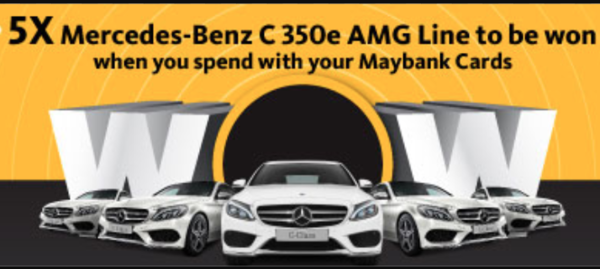 Maybank: Win a Mercedes-Benz C 350e AMG Line