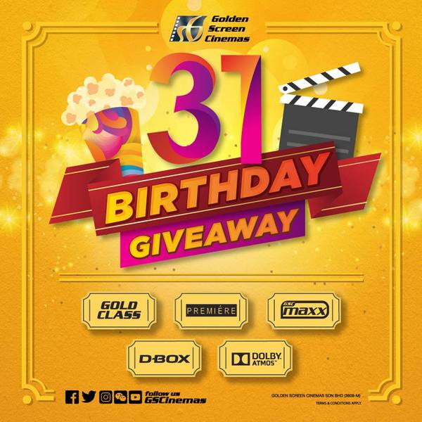 GSCinemas 31st Birthday Giveaway!