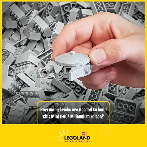 Legoland Star Wars Day Guess How Many Bricks