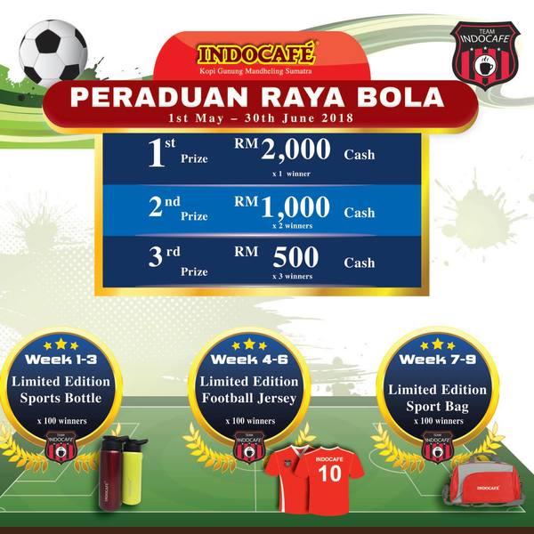 Indocafe Peraduan Raya Bola kini di sini!