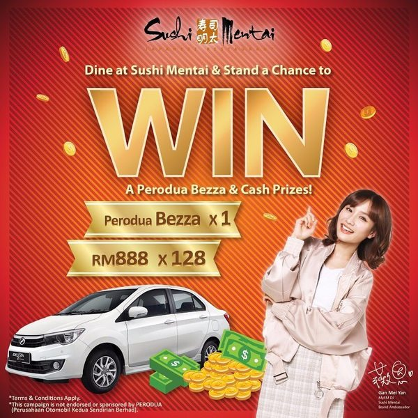 Sushi Mentai New Year Lucky Draw