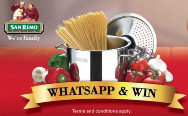 San Remo WhatsApp & Win contest with Giant