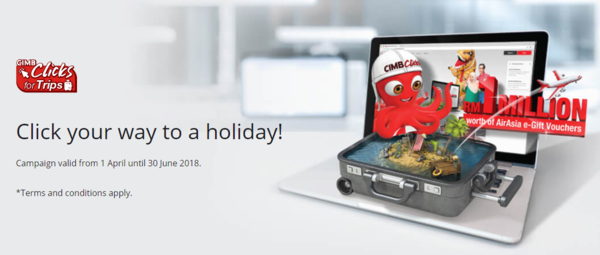 CIMB - Click your way to a holiday!