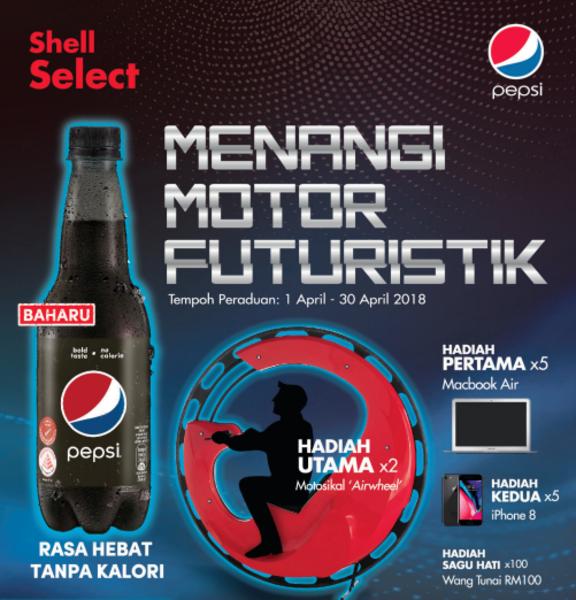 PEPSI MENANGI MOTOR FUTURISTIK