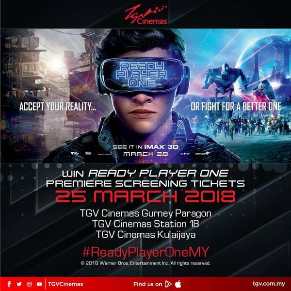 TGV Cinemas Ready Player One Contest