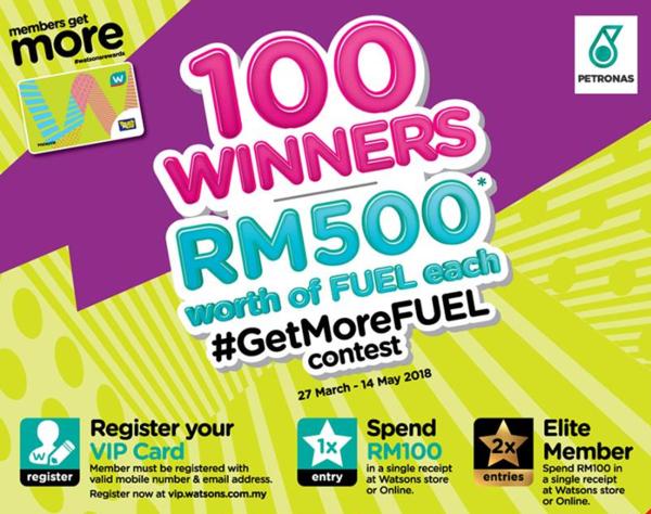Watsons Malaysia GetMoreFUEL contest