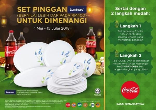 Coca-cola HYPERMARKET & SUPERMARKET HARI RAYA 2018 WHATSAPP CONTEST