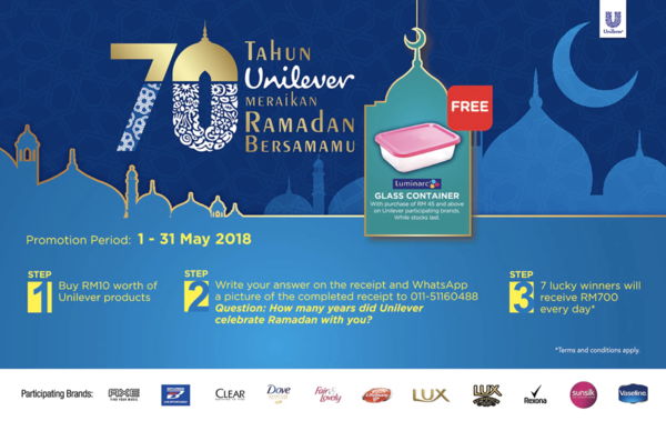 70 Tahun Unilever Meraikan Ramadan Bersama