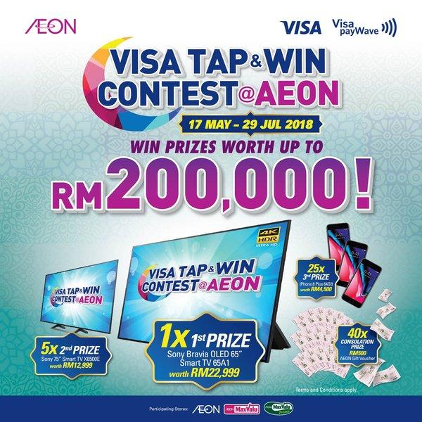 Visa Tap & Win Contest @Aeon