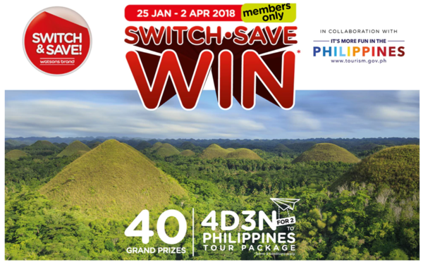 Watsons Win 4D3N Philippines Tour