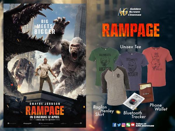 GSCinemas Rampage Movie Giveaway