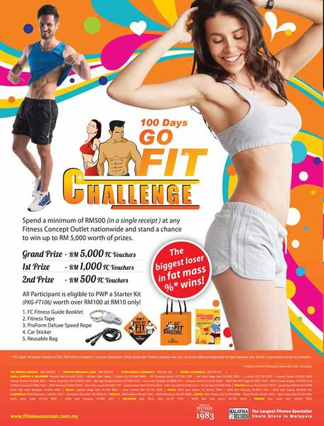 Fitness Concept 100 days go fit challenge