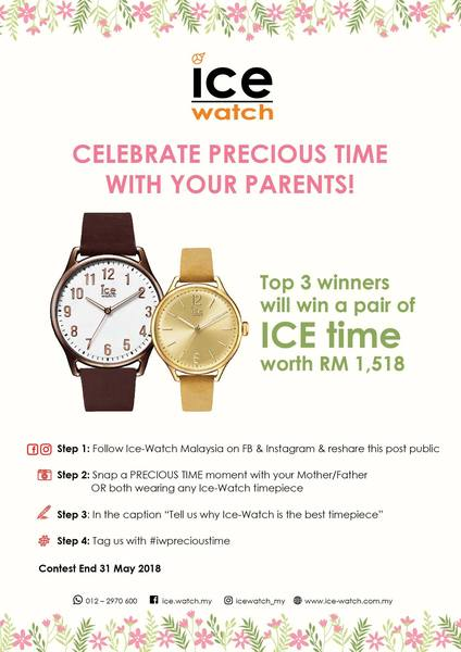 Ice Watch Celebrate Precious Time With Your Parents
