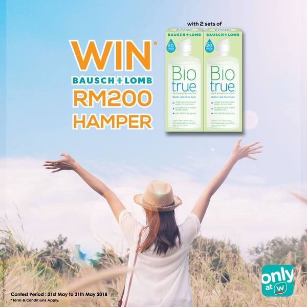 Stand a chance to WIN BAUSCH + LOMB Hamper worth RM200 at Watson