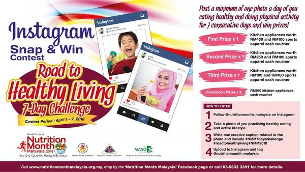 Nutrition Month Malaysia Instagram Snap & Win Contest