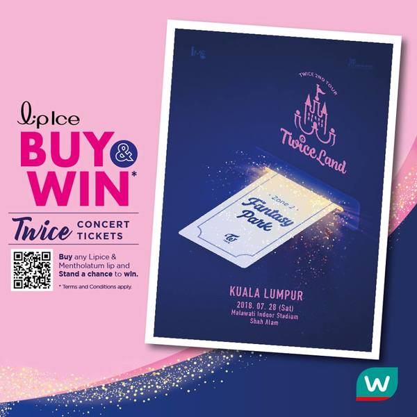 LipIse Buy and Win Twice Concert Tickets