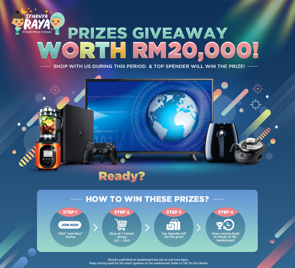 11Street Prizes Giveaway Worth RM20k