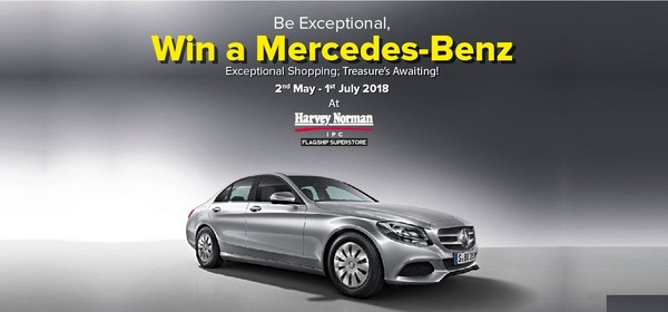 Harvey Norman Be Exceptional, Win a Mercedes-Benz