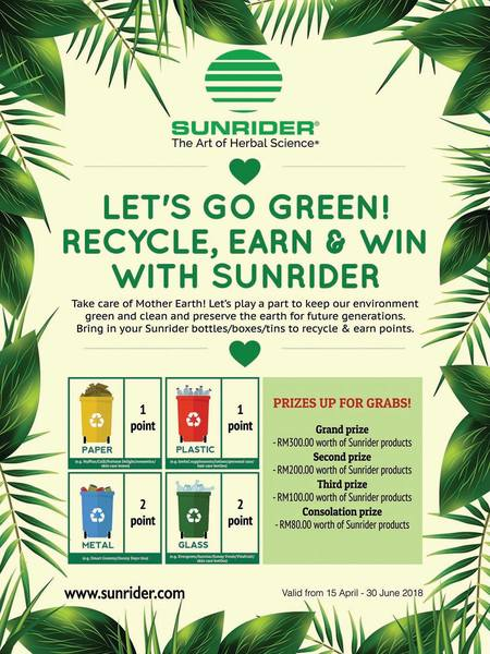 LET'S GO GREEN! RECYCLE, EARN & WIN!