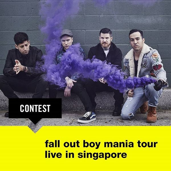 WIN TIX TO CATCH FALL OUT BOY LIVE IN SINGAPORE!