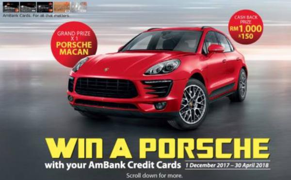 Ambank Win a Porsche contest