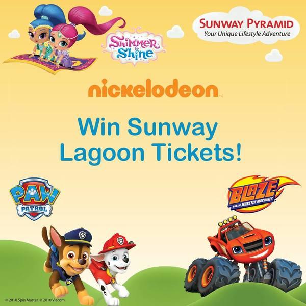Nickelodeon Win Sunway Lagoon tickets
