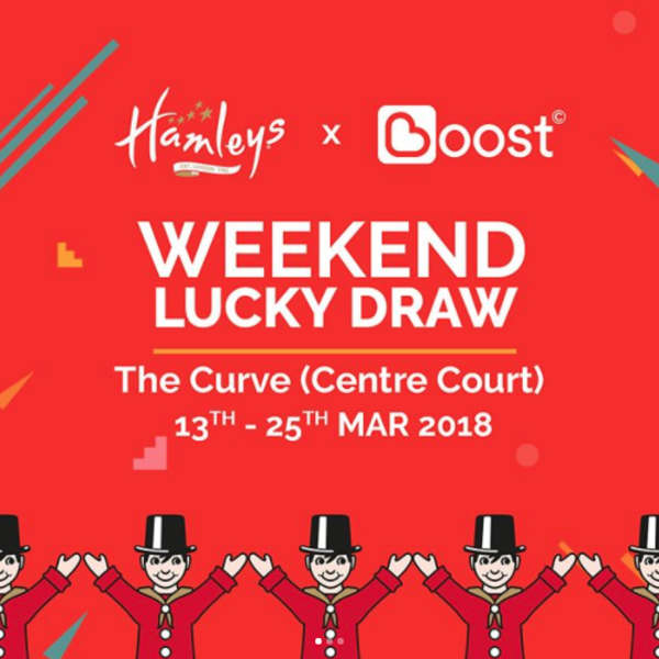 Hamleys x Boost WEEKEND Lucky Draw