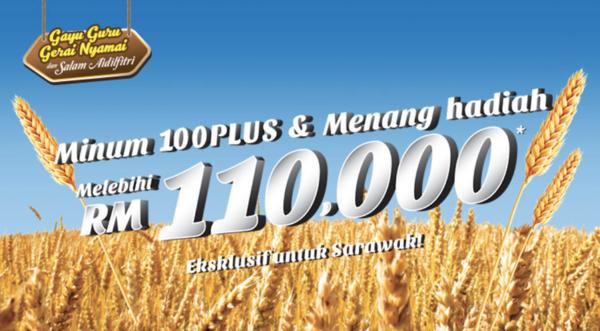 Minum 100Plus & Menang hadiah melebihi RM110000